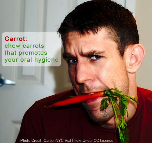 carrots cure bad breath, do carrots help bad breath, carrots bad breath, raw carrots bad breath