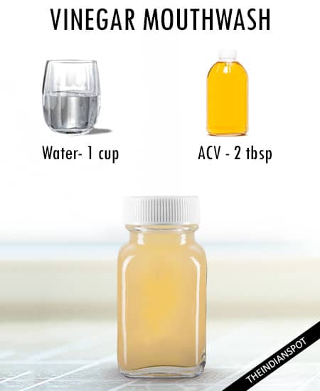 Apple cider vinegar mouthwash for tonsil stones